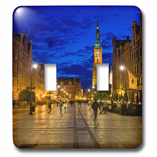 3dRose Danita Delimont - Poland - Poland, Gdansk. Plaza for walking and dining. - Light Switch Covers - double toggle switch (lsp_249362_2) by 3dRose