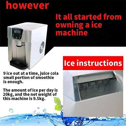 NLRHH Cube Ice Maker - 15 kg / 24 h, 2 litres Ice Cube Container, boîtier élégant, minuterie, système circulantes, des Cubes de Glace Prêt à 6 Minutes Peng