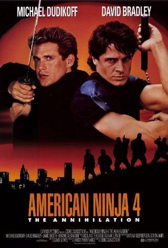 Amazon.com: American Ninja 4: la Aniquilación Póster 27 x 40 ...