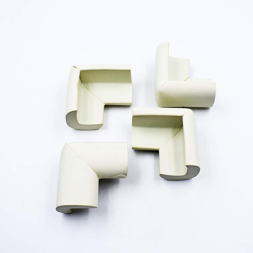 Xeminor Baby Safety Corner Protectors L Type Furniture Corner Guards Edge Corner Bumper for Child 4 Pieces White