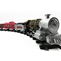 SWAMEY Toy Train and Track Set with 4 Cars, 4 Realistic Train Sounds, with Headlight for Kids