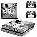 MightyStickers® PS4 Wrap Skin Game Console + 2 Controller Decal Vinyl Protective Covers Stickers Sony PlayStation 4 - Real Madrid CF World Player #7 Cristiano Ronaldo Fc Portugal Soccer White Jersey