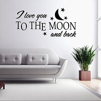 aloiness Babys Room Decor I Love You To The Moon Cita Etiqueta de ...