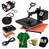 UBRTools Pro 4 in 1 Heat Press Machine Digital Transfer Sublimation T-Shirt Mug Hat Cap
