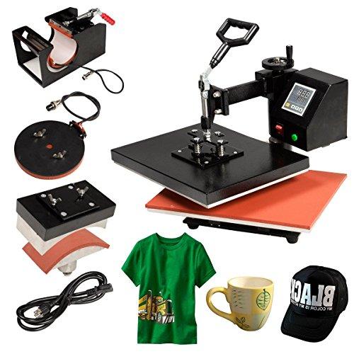 4 in 1 Heat Press Machine Digital Transfer Sublimation T-Shirt Mug Hat Cap