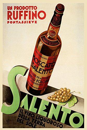 Chianti Ruffino Salento Wine Grapes Liquor Italy Italia Italian Vintage Poster Repro 24