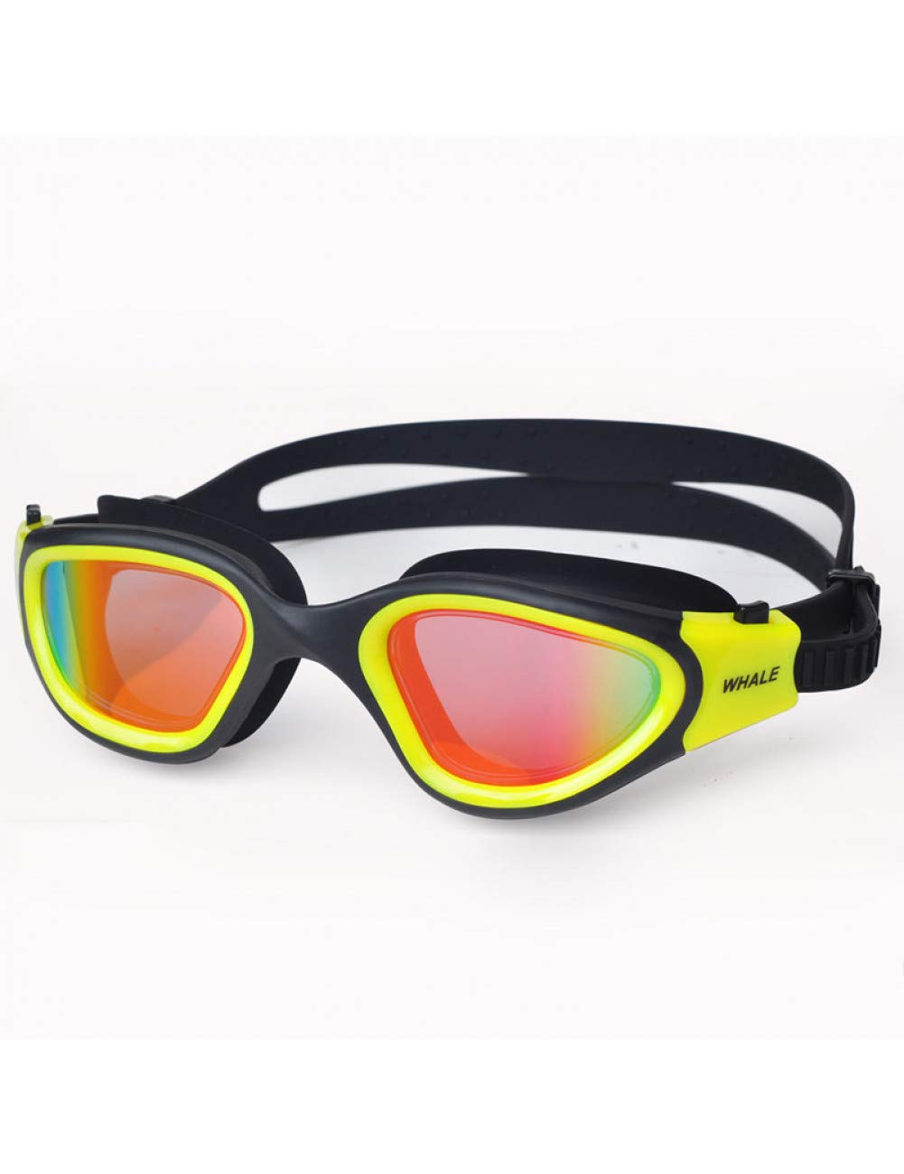 Yellow RSRZ Swimming Goggles Waterproof Adjustable Silicone Swim Glasses In Pool Adult Anti-Fog