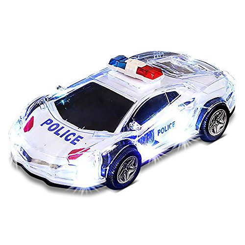 """Toy Police Lights (Light-Up Police Car with LED and Sound Effects by ArtCreativity, 8.5"""" Battery Operated Toy Police Car with Lights and Sirens for Boys, Girls, Toddlers Great Gift Idea/ Party Favor for Kids)"""