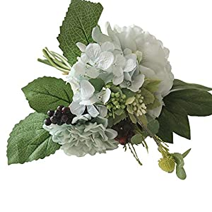 SANGQU 1Pcs Artificial Fake Flowers Peony Floral Real Touch Looking Silk Cloth Material for Party Wedding Bouquet Decor, Garden Craft Art,Office Centerpiece Home Decor(Vase not Included) 50