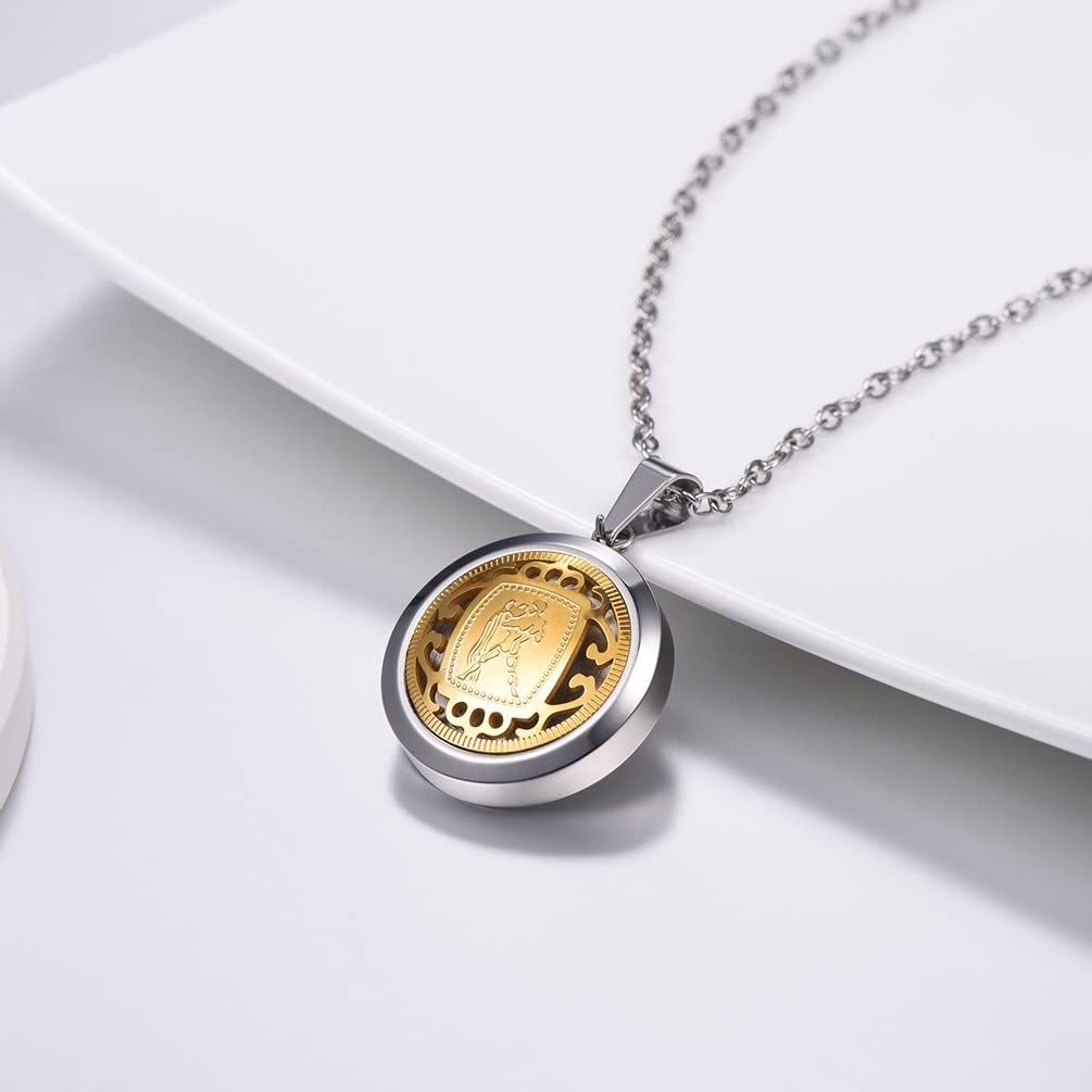 316L Stainless Steel//18K Gold Plated with Chain Send Gift Box PROSTEEL Free Engraving 12 Zodiac Constellation Pendant Necklace with Chain
