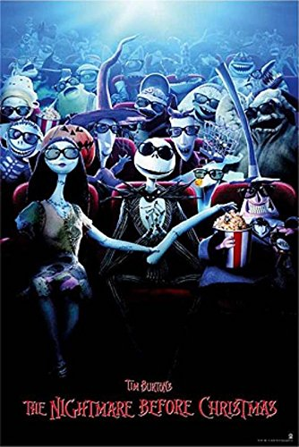 Tim Burton's Nightmare Before Christmas – Movie Poster / Print (3D Release Design) (Size: 24″ x 36″) (By POSTER STOP ONLINE)