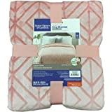 Better Homes and Gardens Velvet Plush King Blanket, Blush Texture