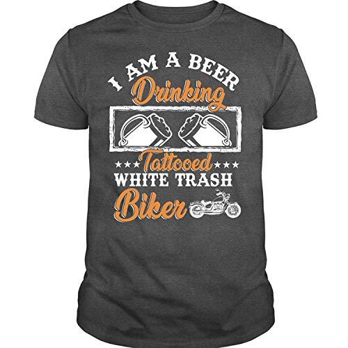 Tattooed White Trash Biker T Shirt, I Am