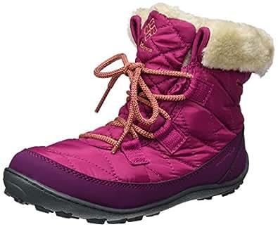 Columbia Youth Minx Shorty Omni-Heat Waterproof, Botas de Nieve para Niñas, Rosa (Deep Blush, Bright Peach), 23 EU