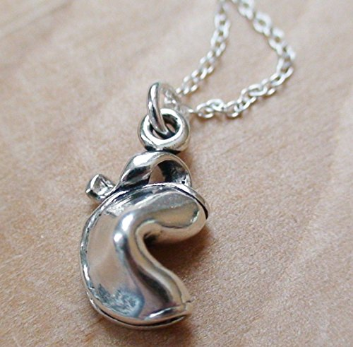 pt_shion NEW Fortune Cookie Necklace - Fortune Charm Good Luck Cookie Good Luck Cookie