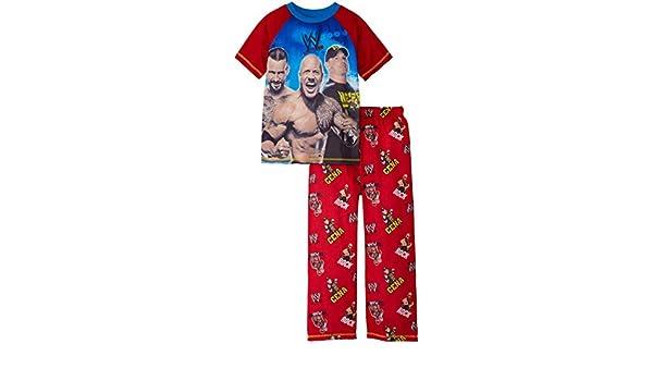 John Cena, Rock y Punk Big Boys WWE Juego de pijama, tamaños 4 - 12: Amazon.es: Ropa y accesorios