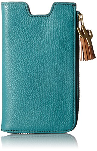 Fossil Rfid Phone Slide Wallet, Teal Green by Fossil