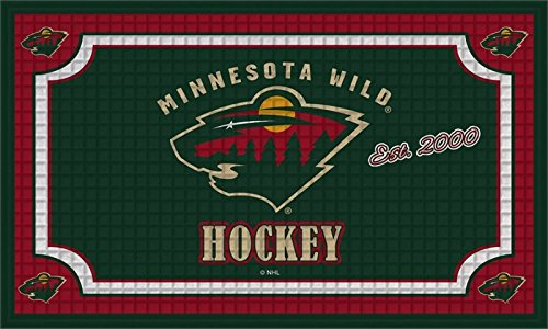 fan products of Team Sports America Minnesota Wild Embossed Floor Mat, 18 x 30 inches
