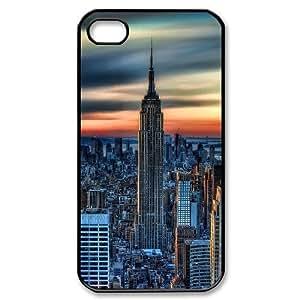 Jumphigh New York City Daybreak IPhone 4/4s Cases, [Black]