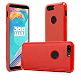 OnePlus 5T Case, Orzly FlexiCase for One Plus 5T - MATT RED (Slim-Fit) Protective (Anti-Scratch) Flexible Skin Case Cover with Fingerprint Sensor Access for New 2017 Oneplus 5t Smartphone