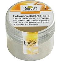 knusper.haus Farbintensive Lebensmittelfarbe (12 Farben/5 g) FARBE FREI WÄHLBAR (GOLD)