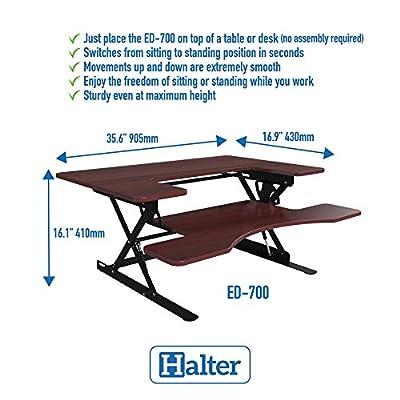 Halter ED-600 Preassembled Height Adjustable Desk Sit/Stand Elevating Desktop