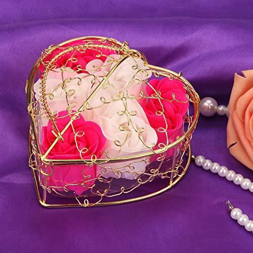 Elevin(TM)  Random Heart Scented Bath Body Petal Rose Flower Soap Wedding Decoration