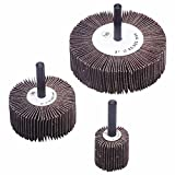 Flap Wheels, 3 in x 1 in, 60 Grit, 20,000 rpm (242 Pack)