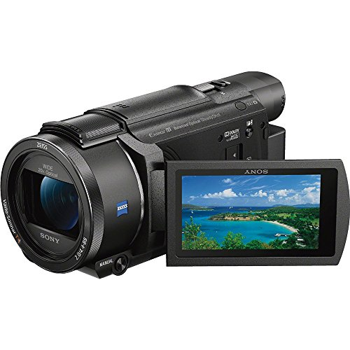 51mNKBOCs1L - Sony FDR-AX53/B 4K Handycam Camcorder Deluxe Bundle includes Handycam, 55mm Filter Kit, Battery x 2, Charger, 64GB SDXC Memory Card x 2, Bag, Tripod, Card Reader/Wallet, Beach Camera Cloth and More!