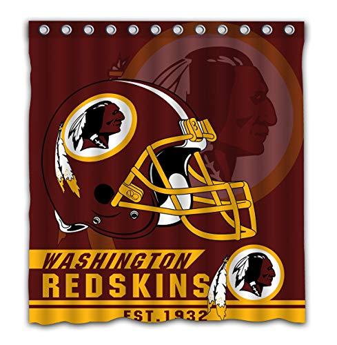 Felikey Custom Washington Redskins Waterproof Shower Curtain with Color Bathroom Decoration Size of 66x72 -