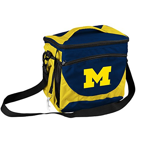 NCAA Michigan Wolverines 24-Can Cooler with Bottle Opener and Front Dry Storage ()