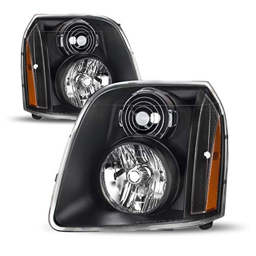 For GMC Yukon/Yukon XL Denali OE Replacement Headlights Black Driver/Passenger Head Lamps Pair New