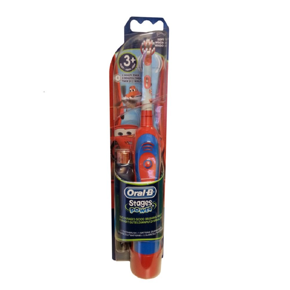 Braun Oral-B Advance Stages Power Kids Battery Toothbrush Disney Cars for 3+ D4510K