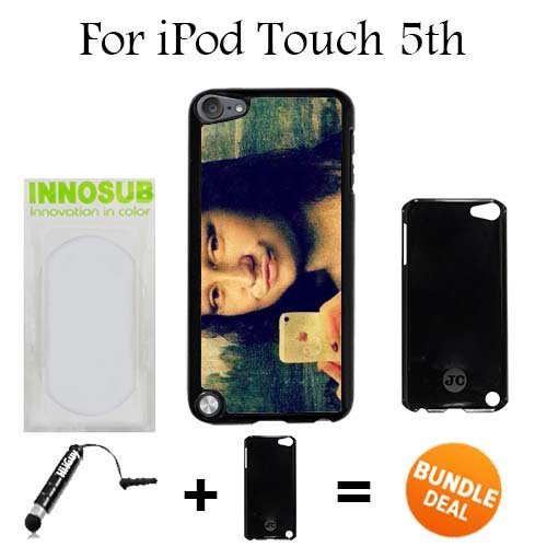 Mona Duckface Selfie Custom iPod 5/5th Generation Cases-Black-Plastic,Bundle 2in1 Comes with Custom Case/Universal Stylus Pen by innosub (Ipod 5th Generation Selfie Cases)