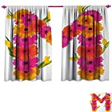 Best Greenland Home Home Fashion Pinks - Anniutwo Letter M Drapes Living Room Pink Orange Review