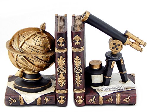 Bellaa 26355 Astronomy Bookends Galileo Space and Time Book Ends