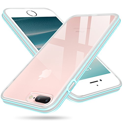 iPhone 7 Plus Case, Clear iPhone 8 Plus Case, Salawat Shockproof iPhone 7 Plus Case Cover Soft Slim Defender Case Impact Resistant Colorful Bumper Protective Case for Apple iPhone 7/8 Plus (Blue)