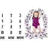 Baby Milestone Blanket,Swaddling Blanket Photography Props Backdrop for Newborn Boy Girl