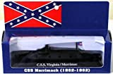 ": 7"" Long USS Virginia/Merrimac Ironclad Civil War Ship (Built-Up Die Cast)"
