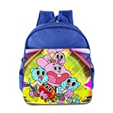 Toddler Kids The Amazing World Of Gumball School Backpack Style Children School Bags RoyalBlue