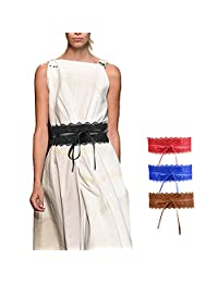 Women's Bowknot Lace Waist Belt Self Tie Wrap Corset Waist Band Boho Belt …