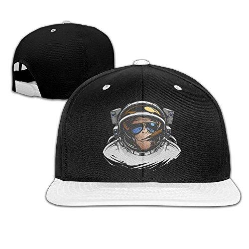 Unisex Hip-Hop Cap Cool Astronaut Orangutan Art Adjustable Flat Brim Baseball Caps