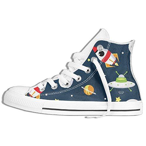 Classic High Top Sneakers Canvas Shoes Anti-Skid Cartoon Space Casual Walking For Men Women White r5RwPYZGEG