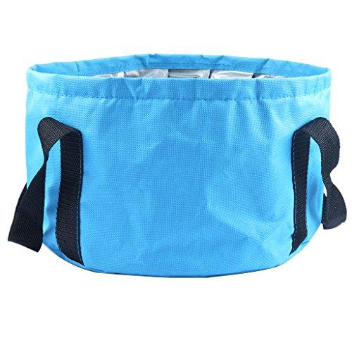 HOOYEE Multifunctional Collapsible Portable Travel Outdoor Wash Basin Folding Bucket for Camping Hiking Travelling Fishing Washing (Blue)