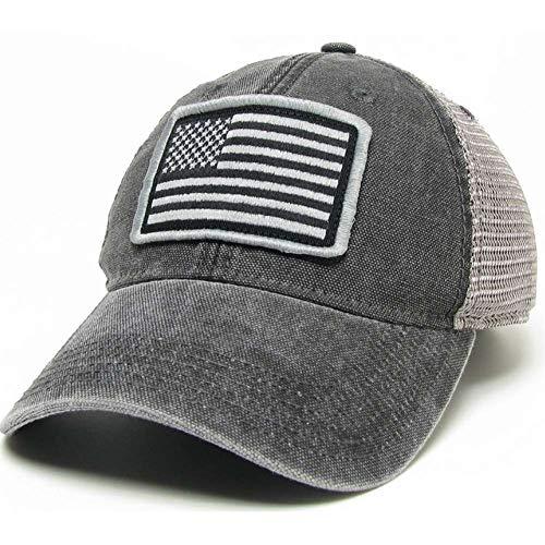 M.M. Impex, Inc. American Flag Legacy Trucker Hat - Black