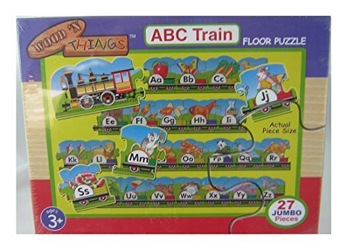 Wood 'N Things ABC Train Floor Puzzle - Over 10 Feet Long