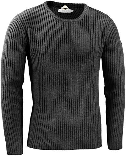 ヴィオラ ビオラ リブニット クルーネック リブ セーター メンズ チャコール灰グレー 01145