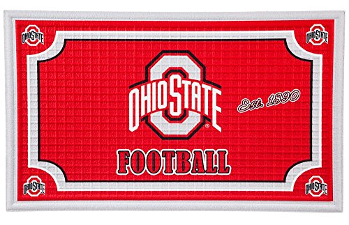 Team Sports America Ohio State Buckeyes Embossed Floor Mat, 18 x 30 inches