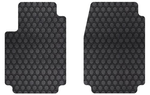 - Intro-Tech MN-114F-RT-B Hexomat Front Row 2 pc. Custom Fit Auto Floor Mats for Select Mini Coupe Models, Fits 2-Seater - Rubber-Like Compound, Black