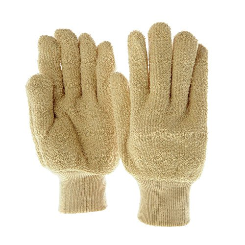 Beige Heavyweight Terry Cloth Oven Gloves 2 Per (Heavyweight Terry Gloves)